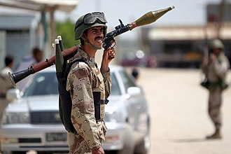 Rocket-propelled grenade - Iraqi Security Force member with an RPG-7