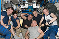 ISS-21 crew in a light moment in the Unity node.jpg