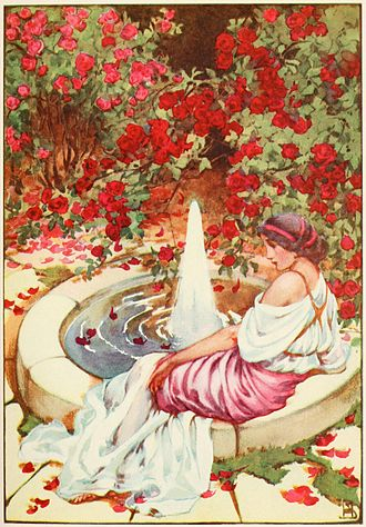 Marpessa of Aetolia - Illustration of Marpessa by Helen Stratton from Jeanie Lang's 1915 A Book of Myths.