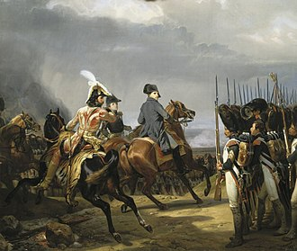 Napoleon reviewing the Imperial Guard before the Battle of Jena, 1806 Iena.jpg