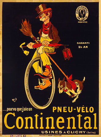 Continental AG - Continental bicycle tire ad, France, circa 1900