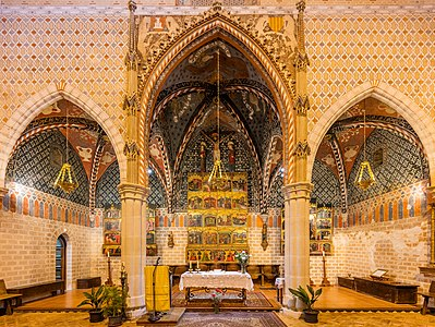Altar of the church of St Felix, Torralba de Ribota, province of Zaragoza, Spain.