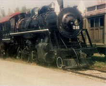 Photograph of Illinois Central No. 790 At Steamtown, Bellows Falls, Vt., c. 1978
