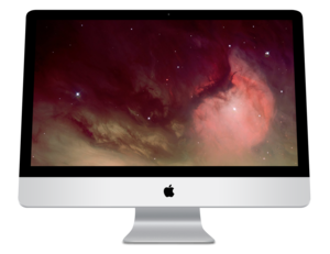 Intel-CPU based iMac with a 27 inch 16:9 aspec...