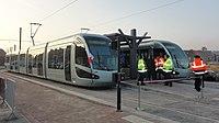 Inauguration de la branche vers Vieux-Condé de la ligne B du tramway de Valenciennes le 13 décembre 2013 (042).JPG