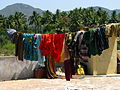 India - Colours of India - clothes on the line in rural TN (2328578404).jpg