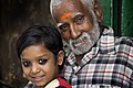 India - Varanasi old food seller and granddaughter - 0604.jpg