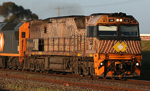 National Rail NR class - Indigenous liveried NR52 at Corio in September 2006