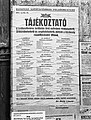 Information about public shelters, 1944-04-24 Budapest Fortepan 72701.jpg