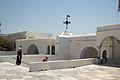 Inside area of pilgrimage basilica, Chora of Tinos, 090789.jpg