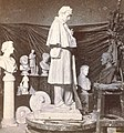 Interior of Milmore's studio, showing design of soldier's monument for the city of Roxbury, from Robert N. Dennis collection of stereoscopic views crop.jpg