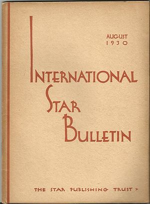Order of the Star in the East - Image: International Star Bulletin