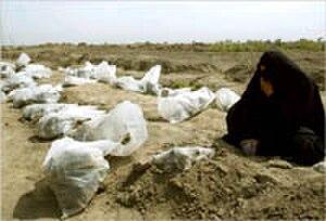 Human rights in Saddam Hussein's Iraq - Mass grave.