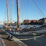 Irene alongside Pooles Wharf, Bristol, January 2014, close.jpg