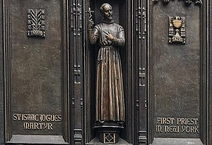 Isaac Jogues - On a door to St. Patrick's Cathedral in New York City