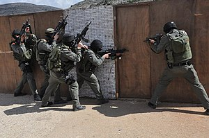 Yamas (Israel Border Police unit) - During a training exercise.