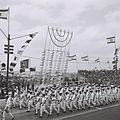 Israeli navy troops marching on Independence Day 1964.jpg