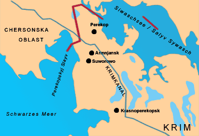 Isthmus of Perekop map