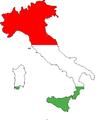 Italia tricolore divisa per fasce di latitudine.png
