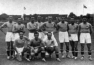Football at the 1936 Summer Olympics - The Italian squad that won the Gold Medal.