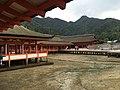 Itsukushima Shinto Shrine at low tide.jpg