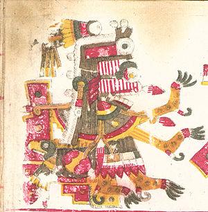 Itzpapalotl - Depiction of Itzpapalotl from the Codex Borgia.