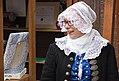 Ivana Marková bobbin lace maker from Brezov pod Bradlom in Slovakia at the Folklore Festival in Myjava.jpg