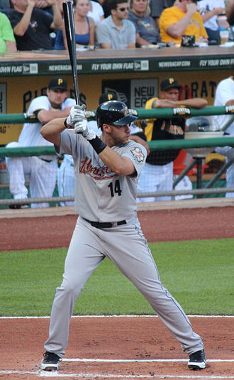 J. D. Martinez - Martinez batting for the Houston Astros in 2012