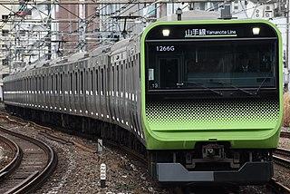 Yamanote Line Railway loop line in Tokyo, Japan