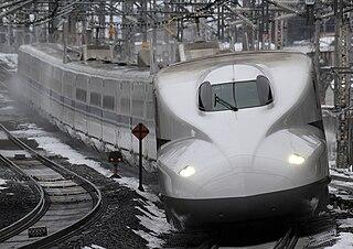 Shinkansen (high-speed railway) line between Tokyo and Osaka