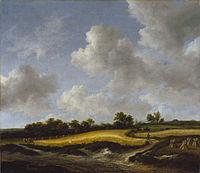 Jacob van Ruisdael - Landscape with a Wheatfield - 83.PA.278 - J. Paul Getty Museum.jpg
