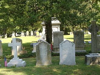 James Carson Breckinridge - Breckinridge's gravesite; his grandfather John C. Breckinridge is behind him