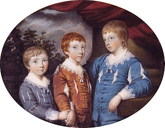 James Stopford, 2nd Earl of Courtown - James, Edward and Robert. (Samuel Shelley, 1774)