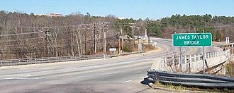 U.S. Route 501 - James Taylor Bridge, Chapel Hill, North Carolina, part of the US-15/501 route