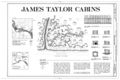 James Taylor Cabins, Yukon River, Opposite 4th of July Creek, Eagle, Southeast Fairbanks Census Area, AK HABS AK,19-EGL.V,3- (sheet 1 of 1).png