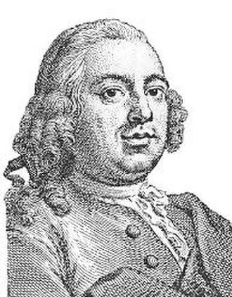 Jan Palthe (1717–1769) -  Jan Palthe, engraving from Jan van Gool's Nieuwe Schouburg, 1750