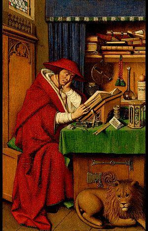 Saint Jerome in His Study (after van Eyck) - Image: Jan van eyck, san girolamo nello studio, detroit