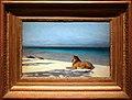 Jean-léon gérome, solitudine, 1890 leone su una spiaggia.jpg