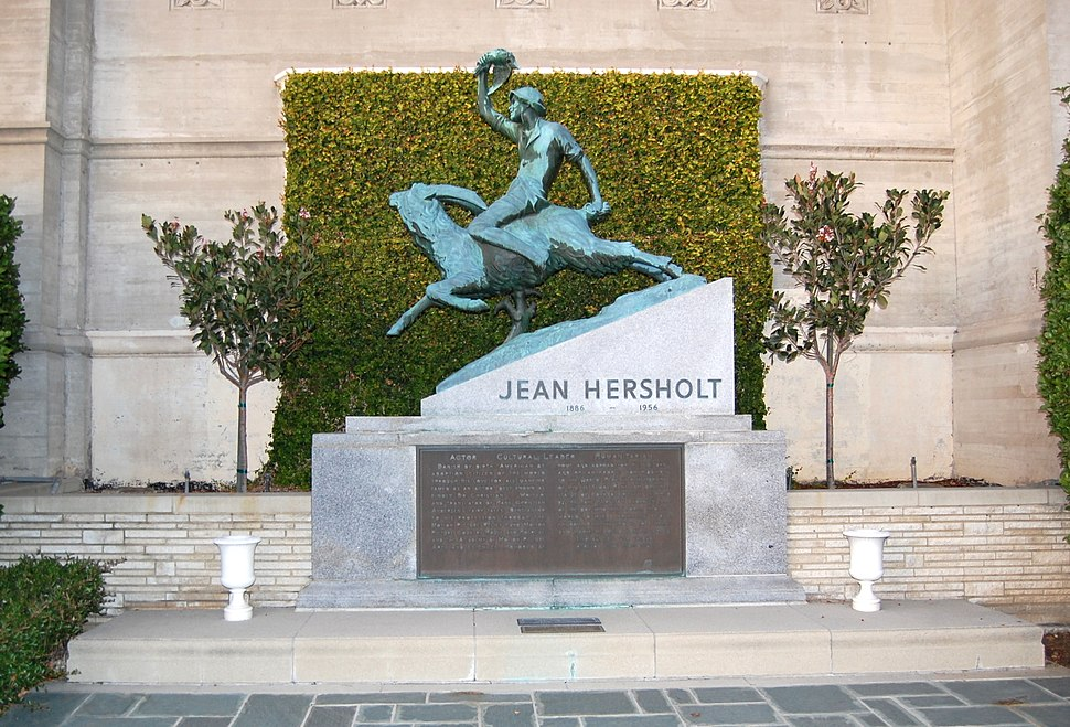 Jean Hersholt grave at Forest Lawn Cemetery in Glendale, California