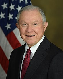 Jeff Sessions - eine intelligenter, intelligenter, Berühmtheit aus Irland Republik, Schottland, England, im Jahr 2020