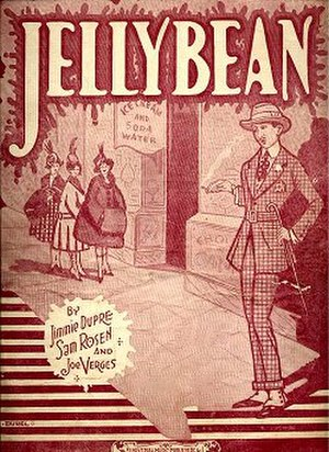 Jelly bean - 1920 sheet music cover
