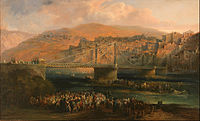Jenaro Pérez Villaamil - View of City of Fraga and its Hanging Bridge - Google Art Project.jpg