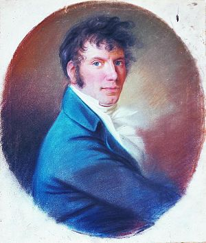 Jens Baggesen - Jens Baggesen, pastel by Christian Horneman made during a visit to Copenhagen in 1806 from Paris where Baggesen lived at the time