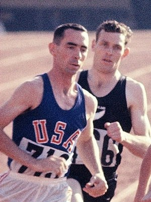 Jerry Siebert - Jerry Siebert (left) and Peter Snell at the 1964 Olympics