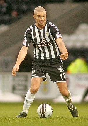 Jim Goodwin - Goodwin playing for St Mirren