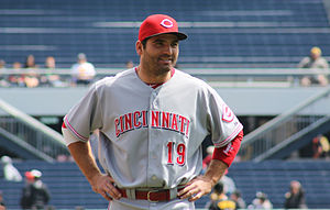 Joey Votto - Votto before a game in April 2014