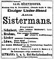 Johannes Brahms Anton Sistermans Vier ernste Gesänge Premiere 1896-11-09.jpg