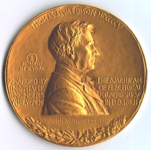 IEEE Edison Medal - Image: John W Howell Edison Medal 1924