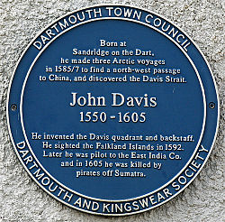 Photo of John Davis blue plaque