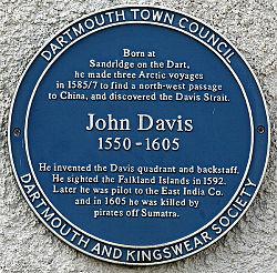 John davis plaque in dartmouth